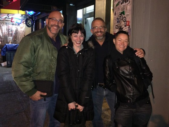 Jesse, Stoya, me, and Jiz Lee after the reading.